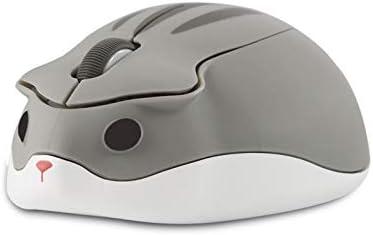 CHUYI Cute Animal Wireless Mouse Cartoon Hamster Shape Mini Travel Mouse 1200DPI Novelty Portable product image