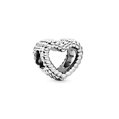 Pandora Damen Moments Offenes Metallperlen Herz Charm Sterling Silber 797516