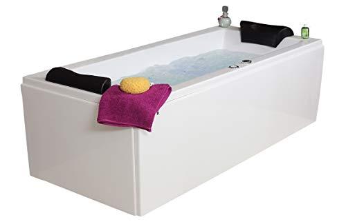 Whirlpool Badewanne Relax Basic MADE IN GERMANY 140 / 150 / 160 / 170 x 75 cm mit 14 Massage Düsen + LED Beleuchtung + dhW + OHNE Armaturen Eckwanne rechts oder links Spa Eckbadewanne günstig