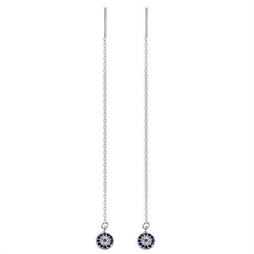 YAZILIND 925 Sterling Silber Retro Devil's Eye Ohrringe Linie Ohrring für Frauen Threader Edlen Schmuck