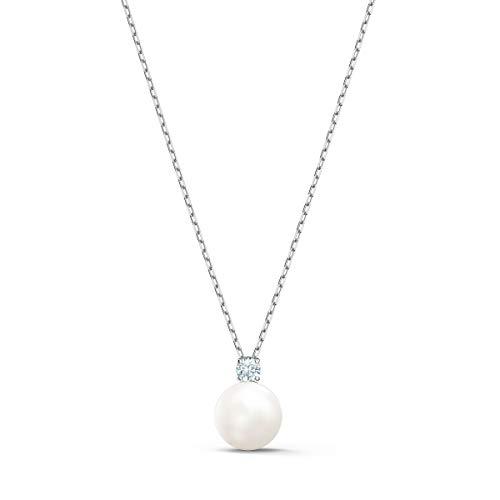 Swarovski Collana Treasure Pearl, bianco, placcato rodio