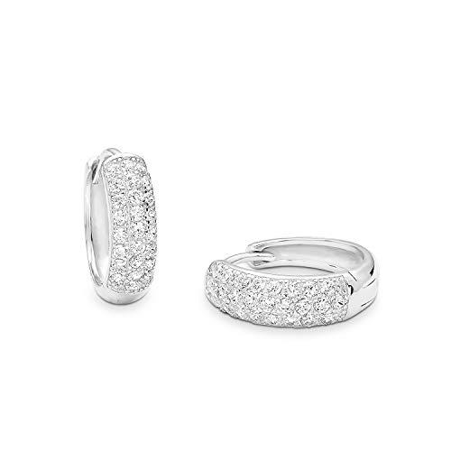 amor Creole für Damen, Sterling Silber 925, Zirkonia