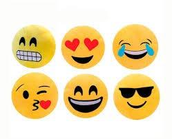 Vasara Cojín Emoticonos 32 Cm - Cojines Emoticonos Emojis Se sirven Surtidas en 4 Modelos. Medidas: 22 cm Se sirven deshinchados. Balones de Emoticonos Originales niños