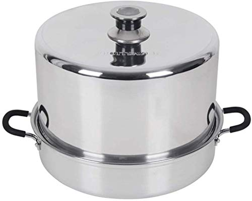 Roots & Branches FruitSaver Aluminum Steam Canner with Temperature Indicator, 7 Quart Jar capacity, Silver