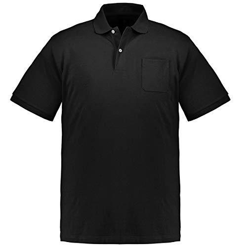 Kitaro Schwarzes Poloshirt Übergrößen bis 8XL, Größe:4XL