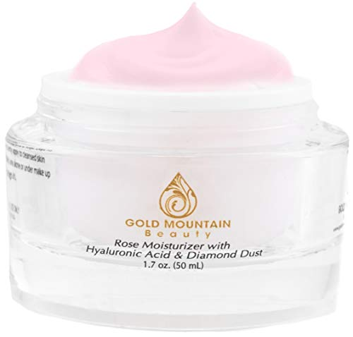 Gold Mountain Beauty Rose Moisturizer with Hyaluronic acid & Diamond dust