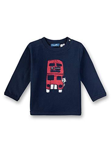 Sanetta Baby-Jungen Sweatshirt, Blau (Shadow Blue 582), 74 (Herstellergröße: 074)