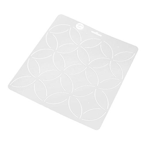 Clear Schablone Plastic Quilting Schablone Quilt Werkzeug Für Patchwork Malerei - Klar1