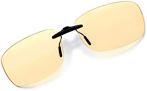 Clip-on Blaulichtschutz - Gaming-Linsen, die auf alle Gestelle passt - Bildschirm Filter Clip on Brille – Schutz vor Müdigkeit wegen Bildschirmen