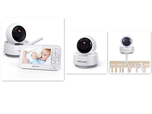 DBPOWER 720P Baby Monitor with Additional Camera & Baby Monitor Camera Shelf Mount Crib Mount