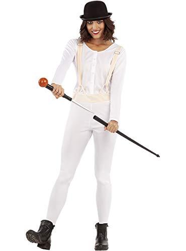Funidelia | Bastón con Daga incorporada para Hombre y Mujer ▶ Clockwork Orange, Drugo, Películas & Series - Blanco, Accesorio para Disfraz