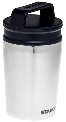 Stanley Adventure Shortstack Kleiner Thermobecher, 0.23 Liter, Stainless, 18/8 Edelstahl, Geeignet für Kapselmaschinen und Vollautomat, Doppelwandig Vakuumisoliert, Auslaufsicher, Verriegelbar