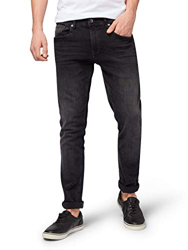 TOM TAILOR Denim Herren Culver Skinny Jeans, Schwarz (Used Dark Stone Blac(Black) 10250), W28/L32