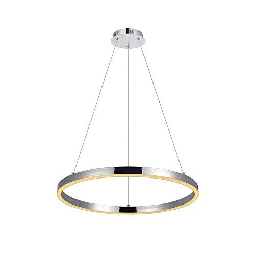 s.LUCE Ring M LED-Hängeleuchte Ø 60cm Chrom LED-Ringleuchte LED-Ringlampe LED-Hängelampe Ring-Pendelleuchte