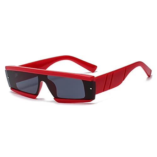 AMFG Fashion Siamese Square Femenina Gafas de sol Piernas anchas Multicolor Sunglasses Men's Street Shooting Driving Mirror (Color : D)