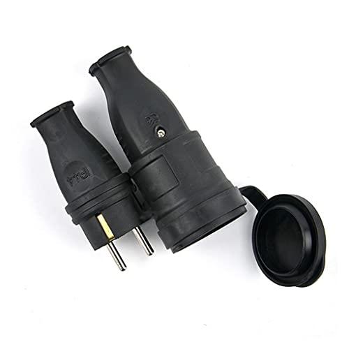 SHURROW 16A 220V-250V 2P + E IP44 Especificaciones Europeas Enchufe Industrial Macho y Hembra para Cable Conector de alimentación eléctrica
