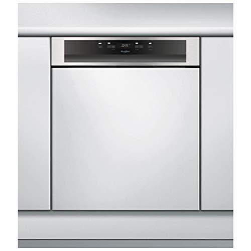 Lave vaisselle encastrable Whirlpool WBC3C26X - Lave vaisselle integrable 60 cm - Classe A++ / 46 decibels - 14 couverts - Intégrable bandeau : Inox