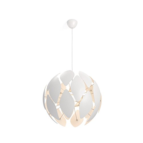 Philips Lighting Smart Volume Chiffon Lampada a Sospensione, Design Moderno E27, Bianco, 60 cm