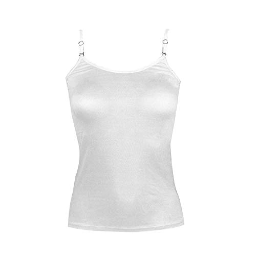 RAPID Strap Adjustable Women For Women and Girls Cotton Camisole Pack of 3 (Beige, Black, White) Medium Size