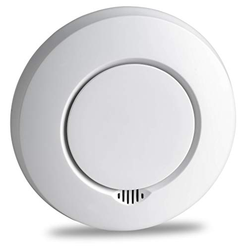 SEBSON Funk Rauchmelder vernetzbar mit Anderen Funkwarnmeldern, DIN EN 14604 Zertifiziert, fotoelektrischer Rauchwarnmelder funkvernetzt, Hitzemelder