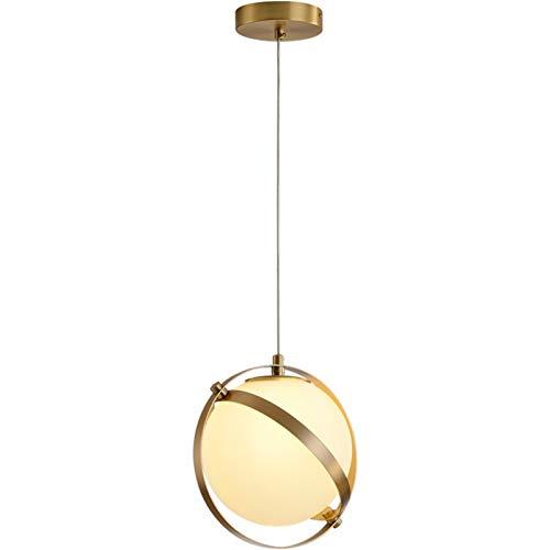 LIRRUI Sala Sola Cabeza lámpara de Cristal Simple Estudio Dormitorio Habitaciones Creativo Tierra Anillo de la lámpara
