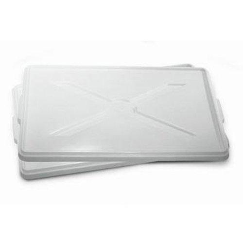 Giganplast Coperchio per Cassetta Service sovrapponibile Professionale Pizza Impasto Pane Pasta polietilene Uso Alimentare (Coperchio 60x40cm)