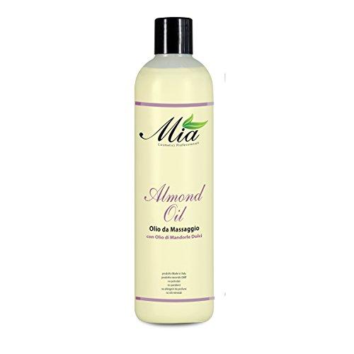 Huile de massage relaxante aux amandes, adaptée aux peaux délicates et sensibles - Bouteille de 50ml