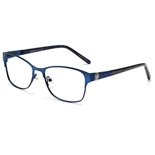 OCCI CHIARI Women Fashion Metal Optical Eyewear Frames Clear lens Glasses(Blue, 52-17-135)