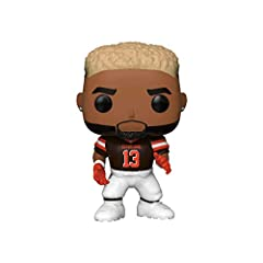 From NFL, Odell Beckham Jr. , as a stylized POP vinyl from Funko Figure stands 9cm and comes in a window display box Check out the other NFL figures from Funko & Collect them all Funko POP. is the 2018 Toy of the Year and People's Choice award winner