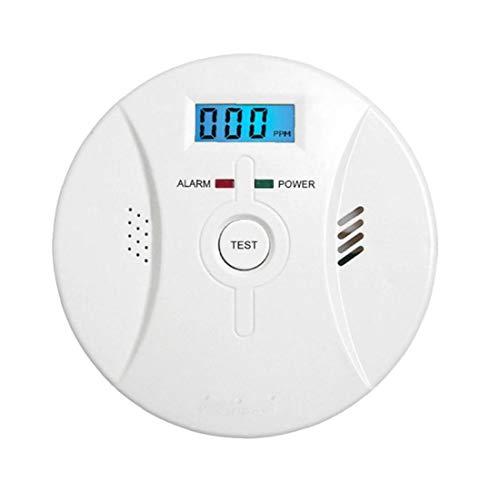 FANKUNYIZHOUSHI Co Alarm Rauchmelder Kohlenmonoxid-Alarm Mit LCD-Display Sprachbenachrichtigung Für Heim Feuer Gasaustritte Heimversorgung