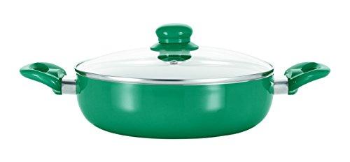 TV Unser Original BRATmaxx Keramik 24cm, smaragdgrün Kochtopf, Aluminium, Grün, 24 cm