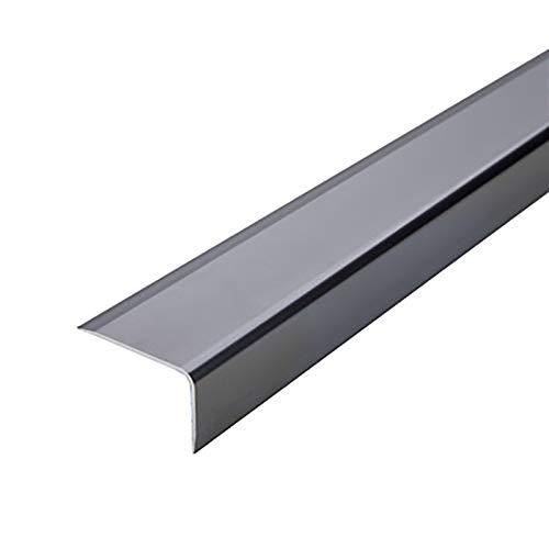 Nariz Antideslizante de Escalera 1.5m Longitud L Forma de L de aluminio Anti resbalón Sin deslizamiento Rose 35x20mm ángulo Escaleras de borde Perfiles de escaleras 2 PCS Adecuado para Escaleras