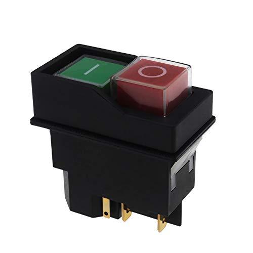 Interruptor de encendido y apagado eléctrico para Belle IP55 para hormigonera, rojo y verde, 16 A