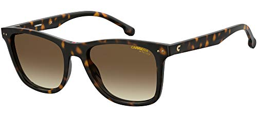 Carrera 2022T/S Gafas, Dark Havana/Brown Shaded, 51 Unisex Adulto