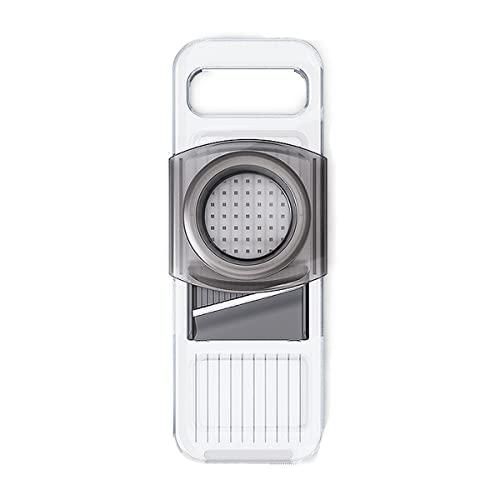 shisipq Trituradora de verduras con hoja de repuesto/protector de mano, trituradora de alimentos multifuncional, cortador de diceros-6 cuchillas, molinillo de prensa, accesorio de cocina