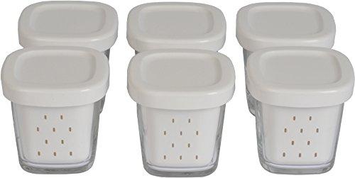 Seb XF100101 Delices Box Coffret de 6 Pots Yaourt Verre Couvercle avec Égouttoir,cloris aléatoire