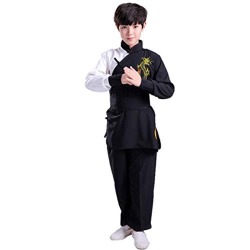 Kampfkunstuniformen FüR Kinder, GruppenüBungsuniformen FüR GrundschüLer, Traditionelle Chinesische Kampfkunstuniformen,#5,160CM