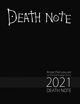 Death Note  Full Calendar Planner with Images&Quotes 8.5  x 11  Anime Calendar Death Note