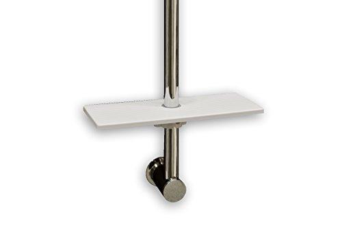 Waterful Omega Tablet Universal Kunststoff weiß für Brausestange Seifenschale 25cm x 10cm