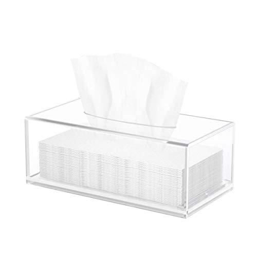 HIIMIEI Scatola per salviette cosmetiche, 25 × 13 × 9 cm, in acrilico, scatola per fazzoletti, con...