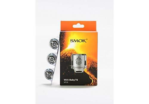 SMOK V8 X-Baby T6 - Bobinas de repuesto de 0,2 ohmios (40 – 130 W) TFV8 (3 x bobinas (paquete completo))