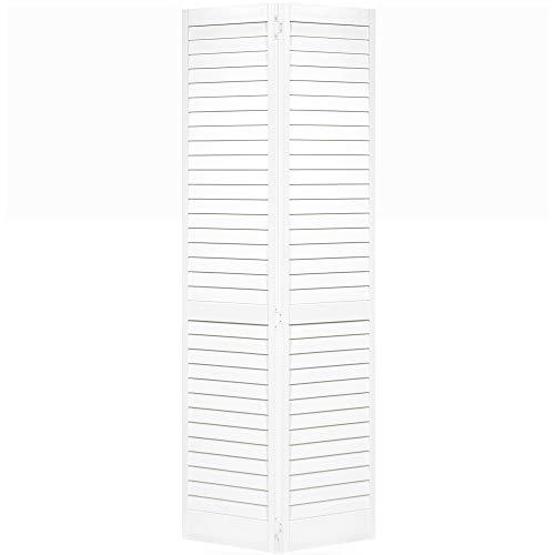 Closet Door, Bi-fold, Louver Louver Plantation White (30x80)