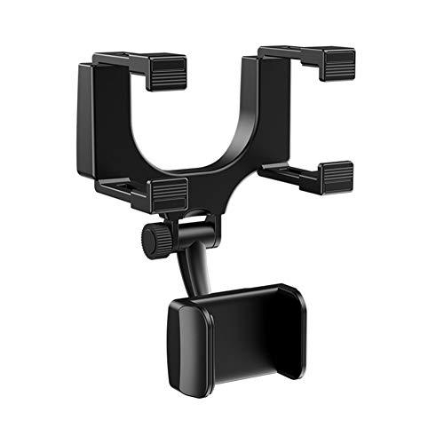 LICHENGTAI espejo retrovisor del coche titular del teléfono móvil de rotación de 360 grados, grabador de conducción, soporte de teléfono GPS, compatible con 3-5.5 pulgadas Android IOS Smartphone