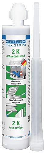Weicon 13305250 Flex 310 M 2 K MS-polymeer 250 ml grijs watervaste elastische lijm voor afdichten