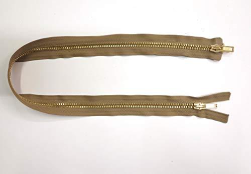 Artefizio nr. 1 scharnier van metaal deelbaar <> in 10 lengtes selecteerbaar <> breedte 8 mm <> gordelband van polyester nr. 2 kleuren naar keuze: wit, nocciola<>gouden ketting cm 74 Hazelnoot