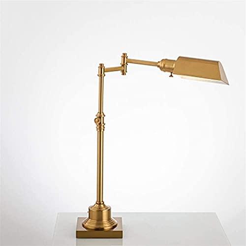 LATOO Lámpara de Mesa Lámpara de Mesa Dorada, Estudio de Escritorio, protección Ocular, LED de Cobre, Trabajo Retro nórdico, lámpara de Mesa con atenuación Creativa