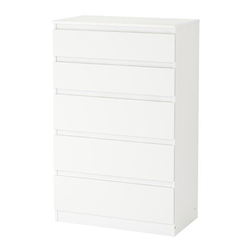 IKEA Kullen - Cómoda con 5 cajones, 70 x 112 cm, color blanco
