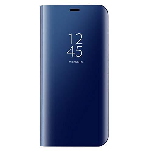 Liaoxig Fundas Huawei Huawei Mate 9 galvanoplastia PC PU Horizontal Funda Protectora con Soporte y función de Reposo/Despertador Fundas Huawei (Color : Blue)