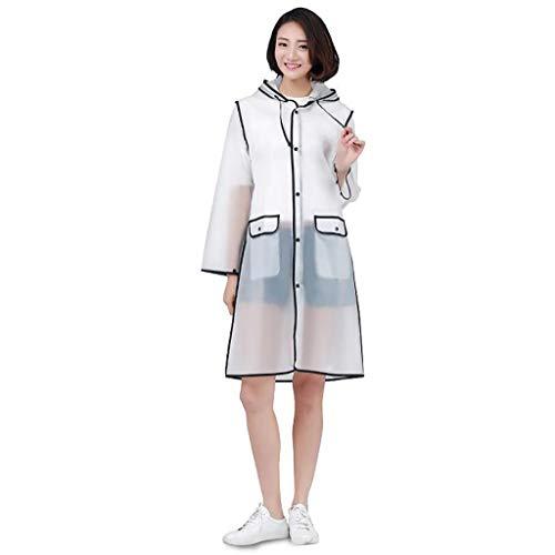 WXX-tarpaulin Waterproof Impermeable Mode extérieur Voyage sur Pied Transparent Raincoat Adulte Hommes et Femmes Long Poncho (Color : B, Size : XXL)