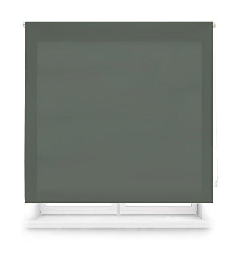 Blindecor Ara - Estor enrollable translúcido liso, Gris Pastel, 140 x 175 Cm (ancho x alto)